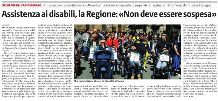 Articolo sul Giornale di Sicilia di oggi